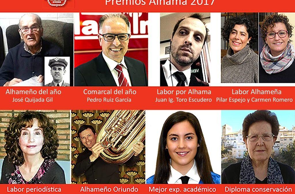 """""""Premios Alhama 2017"""", se entregaran el día 27 de febrero bajo la organización del Patronato de Estudios Alhameños"""