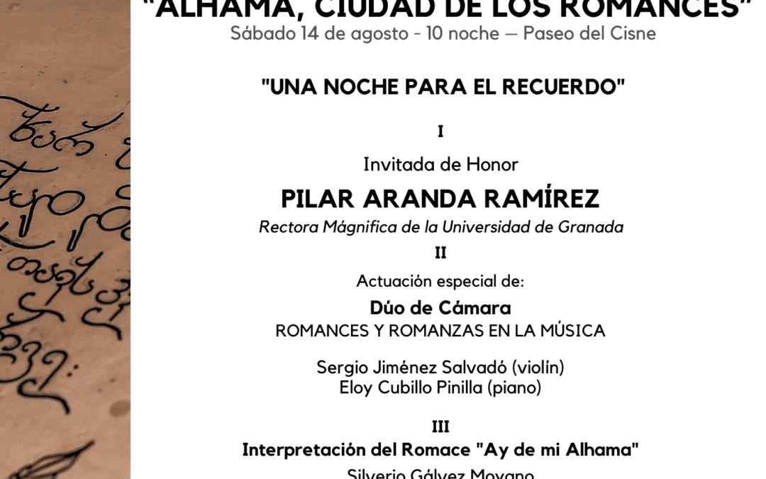 Programa de la XXV Velada de los Romances Ciudad de Alhama